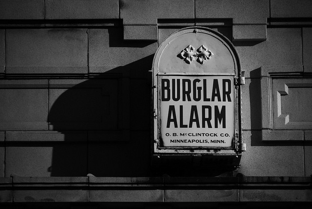 old fashioned burglar alarm
